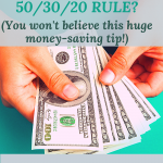 What is the 50-30-20 rule?